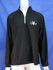 MENS LONG SLEEVE BLACK PLAYBOY GOLF SHIRT MOISTURE WICKING FASTDRY BREATHABLE