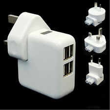 4 USB Ports Wall AC Power Charger Adapter For Samsung IPhone Smartphone AU/EU/UK