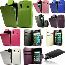 Flip Pu Leather Flip Case Wallet Cover For The Samsung Galaxy Ace S5830i