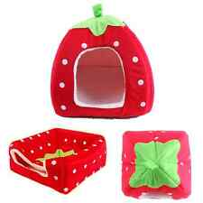 Lovely Warm Strawberry Sponge Soft Bed Cushion Nest For Dog Puppy Cat Pets CAD