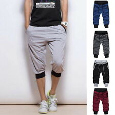 Stylish Solid Jogger Harem Pants Baggy Trousers Drawstring Sweatpants Shorts