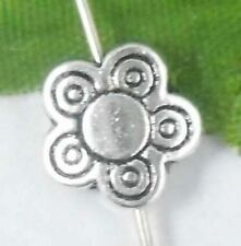 Wholesale 30/65Pcs Tibetan Silver Flower Spacer Beads 10x3mm(Lead-free)