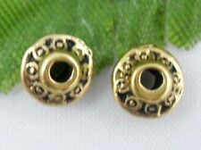 Wholesale 68/146Pcs Tibetan Gold  Spacer Beads 7x3mm(Lead-free)