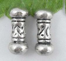 Wholesale 27/59Pcs Tibetan Silver  Spacer Beads 14x6mm(Lead-free)