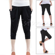 Stylish Women Lady Stretch Colorful Drape Harem Pants Loose Hip-Hop Trousers Hot