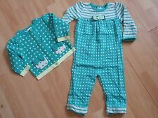 NWT GIRLS GYMBOREE SZ 12-18, 18-24 MONTHS TINY TEAL SWEATER, OVERALL U PICK!!