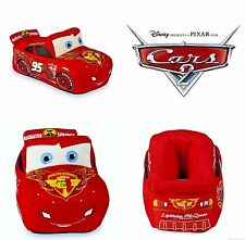 CARS LIGHTNING McQUEEN DISNEY Glow-in-the-Dark Slippers Sz 5/6 7/8 9/10 or 11/12