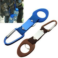 Carabiner Water Bottle Holder Clip Camping Hiking Outdoor Travel Buckle Aluminum