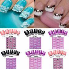 3D Transfer Lace style Nail Art Stickers Manicure Nail Polish Decals Tips