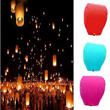 Wishing Lantern Chinese Paper Sky Flying Float Party Wedding Lamp 9 Color Pick