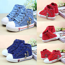 New Canvas Children Athletic Sneakers Boots for Boys and Girls Kids Sports Shoes