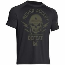 Under Armour 1258879 Men's UA Black OPs Never Accept Defeat Compression T-Shirt