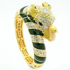 Gorgeous Swarovski Crystal Gold Elephant Bracelet Bangle Women Jewelry SKCA2251L