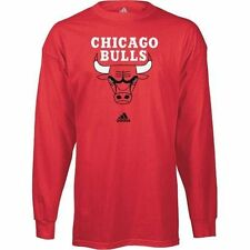 adidas Chicago Bulls Red Primary Logo Long Sleeve T-shirt - NBA