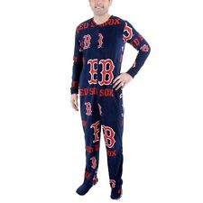 Mens Boston Red Sox Navy Blue Ramble One-Piece ''Mansie'' Footie Pajama Suit