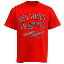 Majestic Detroit Red Wings Vintage Winner Short Sleeve T-Shirt - Red - NHL