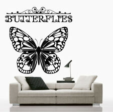 Butterfly Wall Stickers decal flower colours vinyl decals