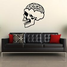 SKULL wall sticker funky bedroom stickers skeleton vinyl decals kids mural decor