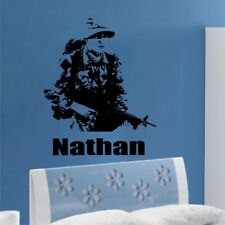 ARMY SOLDIER wall sticker decal boys bedroom personalised wall sticker