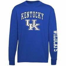 Youth Kentucky Wildcats Royal Blue Distressed Arch & Logo Long Sleeve T-Shirt