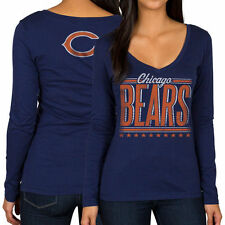Chicago Bears Junk Food Women's Draw Play Long Sleeve T-Shirt - Navy - NFL