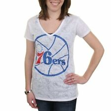 Philadelphia 76ers Women's Sublime V-Neck Sleep Shirt - White - NBA