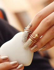 New Women Lady Girls Fashion Popular Finger Nail Ring Punk Design Golden&Silver