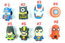 Lot Superman batman spiderman mixed children Shoe Charms Fit Jibbitz