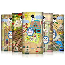 HEAD CASE SCRAPBOOK PENGUIN CASE FÜR SHARP AQUOS CRYSTAL 306SH LTE