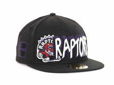 "Toronto Raptors NBA New Era 59Fifty ""HWC"" Flat Bill Fitted Hat New"