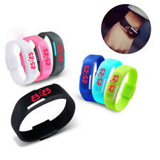 Unisex Waterproof Silicone Digital LED Touch Sports Bracelet Wrist Watch 8 Color