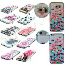 New! Pattern Silicone Clear Soft TPU Gel Cover Case For Samsung Galaxy iPhone LG