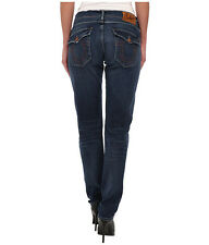 $229 NEW True Religion Jeans Women Cameron Boyfriend Dark Stretch Denims Italy