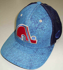 OLD TIME HOCKEY NHL QUEBEC NORDIQUES ACID BLUE/BLUE FLEXFIT HAT CAP