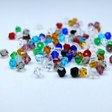 Lots 20/50/100/200Pcs Czech Crystal Bicone Loose Spacer Beads Finding 4/6/8mm