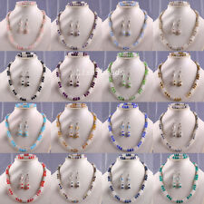 Free Shipping Crystal Faceted Beads Necklace Bracelet Earrings Sets New Fashion