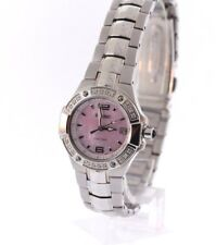 Ladies Seiko SXD691 Stainless Steel Coutura Diamond Accented MOP Dial Watch
