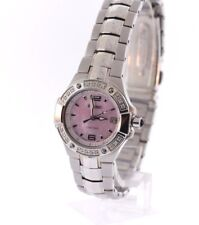 Ladies Seiko SXD691 Stainless Coutura Diamond Pink Mother of Pearl Dial Watch