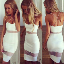 Fashion Women Summer Backless Casual Bandage Evening Cocktail Party Pencil Dress