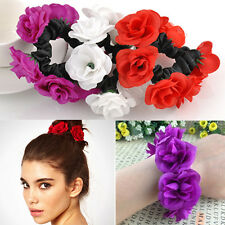 Bridal Garland Bracelet Floral Flower Bun Head Knot Hair Top Scrunchie Band