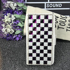 Colored diamonds Wallet Card Holder PU Leather Phone Flip Case Cover For Nokia