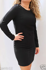 Next Tailored Classic Black Long Sleeve Crepe Office Work Shift Pencil Dress