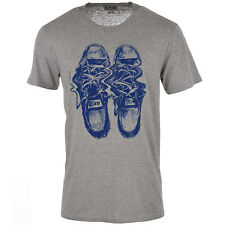 Mens Converse M1 Distorted Chuck Shoe T-Shirt In Grey Marl From Get The Label