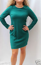 Next Tailored Classic Green Long Sleeve Crepe Office Work Shift Pencil Dress
