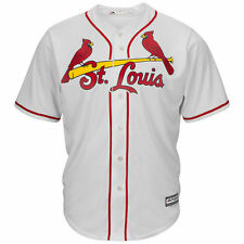 St. Louis Cardinals Majestic Official Cool Base Jersey - Cream - MLB