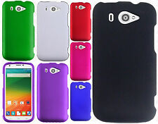 Us Cellular ZTE Imperial 2 Rubberized HARD Protector Case Cover +Screen Guard