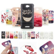 For Sony Xperia E4 Hollow Painted Slim Thin TPU Silicone Rubber Case Cover Skin