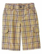 Gymboree Big Boy Shorts Bermuda Cargo Patchwork Plaid 4 6 7 NWT