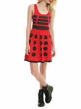 BBC DR Doctor Who Costume RED DALEK ROBOT Cosplay A-Line Skater Dress  JR. XS-2X