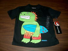 NWT Sprockets Baby Boys Short Sleeve T-Shirt Dinosaur Surfing Sz 12 18 24 Months